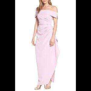 Vince camuto lilac off Shoulder ruched dress